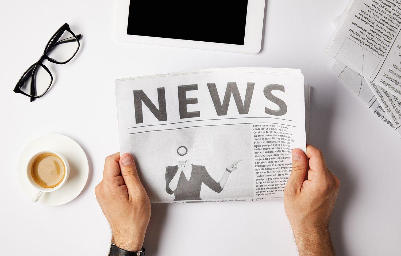 Zeitung mit Aufschrift News